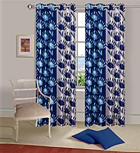 buy curtain set of 2 piece printed eyelet polyester living room window curtain size width x. Black Bedroom Furniture Sets. Home Design Ideas