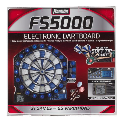 Franklin Sports Soft Tip Electronic Dart Board