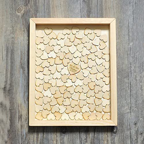 alternative GuestBook with 130 hearts, Rustic Wedding Gift: Handmade