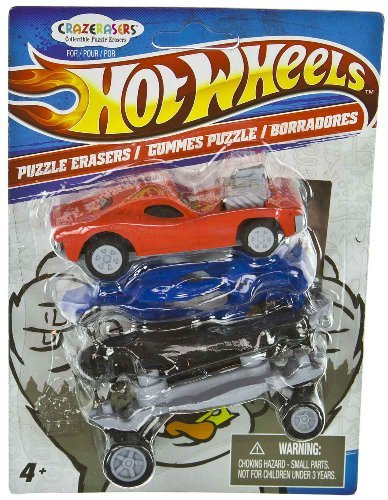 Hot Wheels X CrazErasers: Collectible Puzzle Erasers Series #1 [C9772019]