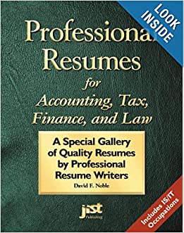 resumes by professional resume writers david f noble 9781563706059