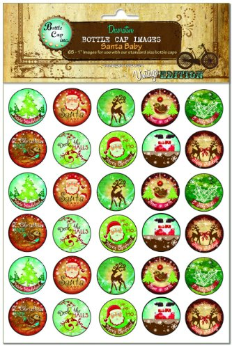 Bottle Cap Images, Santa Baby
