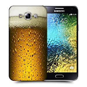 Snoogg Chilled Beer Designer Protective Back Case Cover For SAMSUNG GALAXY E5