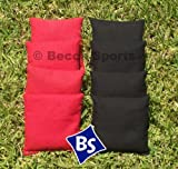 Cornhole Bags Set - 4 Black & 4 Red