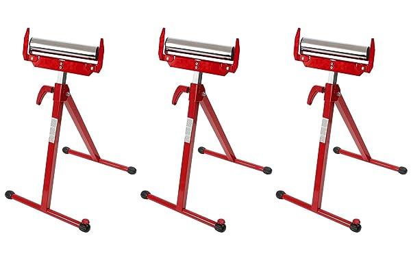 WORKPRO W137006A Folding Roller Stand Height Adjustable (Thr?? ?ack) (Tamaño: Thr?? ?ack)