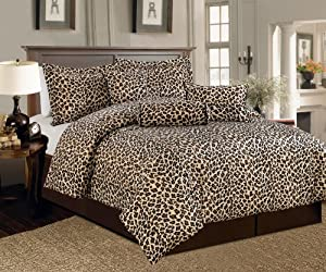 Amazon.com - Beautiful 7 Pc Leopard Print Faux Fur, King Size