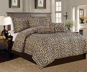 Amazon.com - Beautiful 7 Pc Leopard Print Faux Fur, King Size
