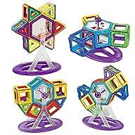 MAKICS Kids Educational Toys 65PCS Magnetic Building Construction Blocks Bricks Stacking Set 3D DIY…