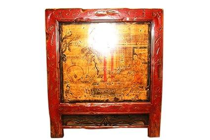 China Mongolia 1890Antiguo kuechenprofi Armario lacado madera