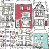 Black / Red / Duck Egg Blue - 75627 - Brighton - Identity - Harlequin Wallpaper