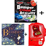 DISNEY CARS BUMPER COLOURING AND ACTIVITY BOOK WITH GOGO CRAZY BONES MINI ART CASE AND THE BEASTIES BOOK by Jenny Nimmo and Gwen Millward (A COMPLETE PACK OF READING AND ACTIVITY)
