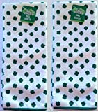 Set of 2 Kelly Green St. Patrick s Day Shamrock Microfiber Kitchen Bar Towels