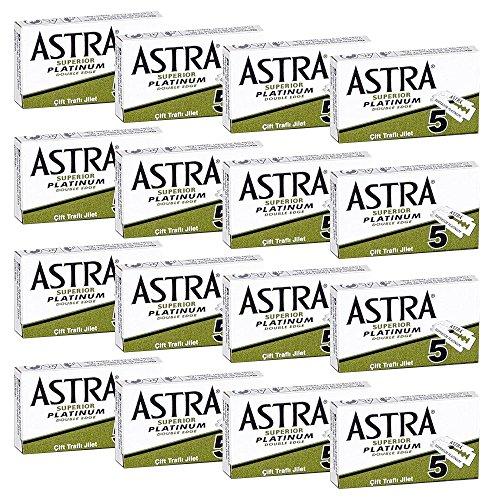 80 Lamette da barba Astra superior platinum - Astra verdi