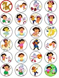 DORA 24 EDIBLE WAFER - RICE PAPER CAKE TOPPERS EACH DESIGN IS 40mm IN DIAMETER