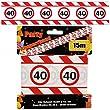 Geburtstags Absperrband 40 Jahre Party Deko Verkehrsschild L�nge 15m
