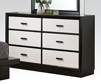 Debora Six Drawer Dresser in Black/White by Acme Furniture