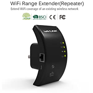 Wavlink WiFi Range Extender,Wireless WiFi Repeater with WPS Function,WiFi Signal Booster,&Access Point,360 Degree Full Coverage (Color: repeater)