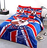 Home Bedding Store British Bulldog Authentic Designer Bedding Duvet Cover Set, Double