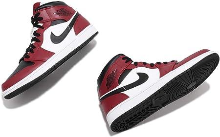 画像にマウスを合わせると拡大されます NIKE(ナイキ) [ナイキ] エアジョーダン 1 ミッド メンズ バスケットボール シューズ Air Jordan 1 Mid Chicago Black Toe 554724-069 [並行輸入品]