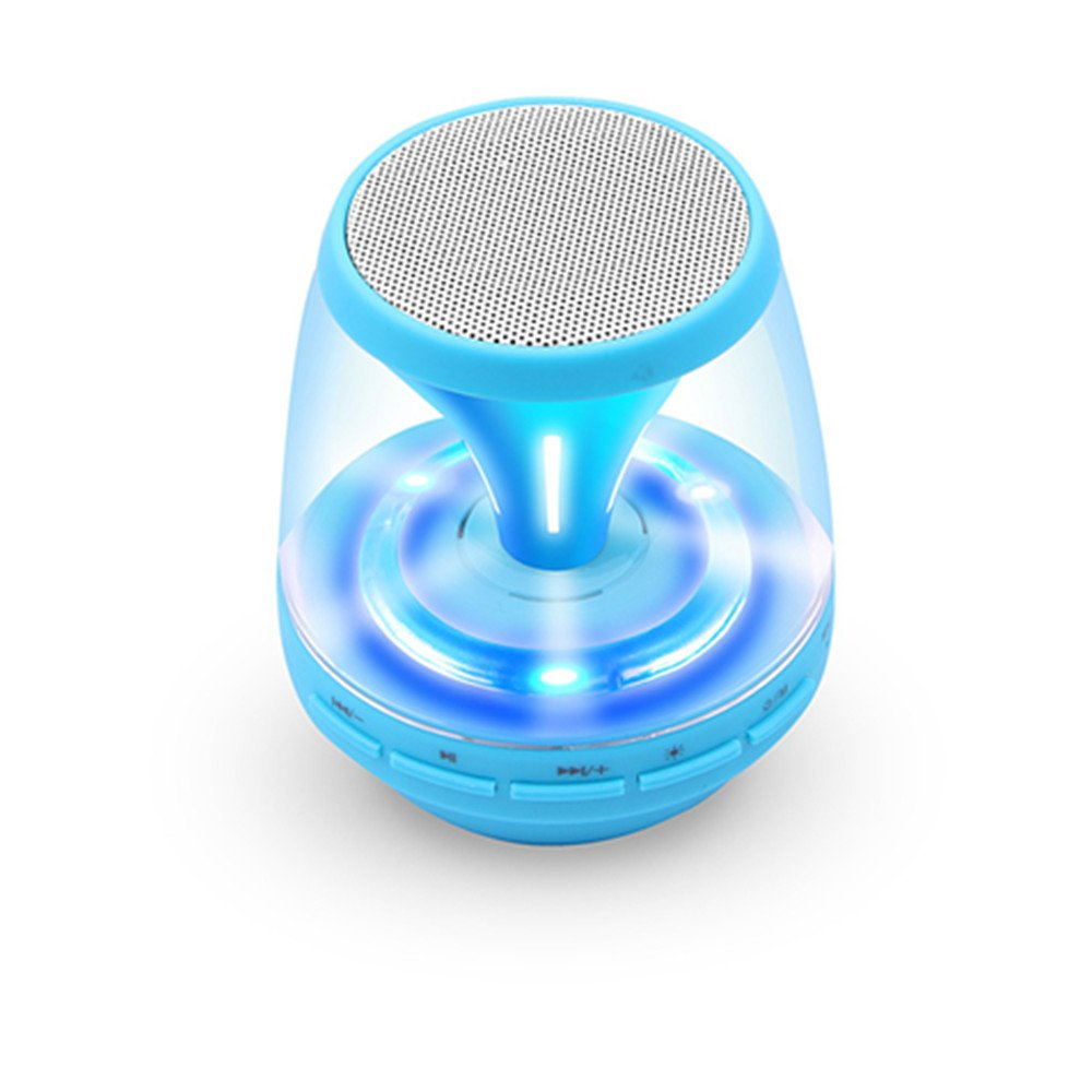 Ultra-Portable Wireless Bluetooth Speaker with Multi-Color LED Light Show,Build-in FM Radio,AUX,MIC,TF Card Slot stylish portable mp3 music speaker with fm radio sd slot usb host multi color led white