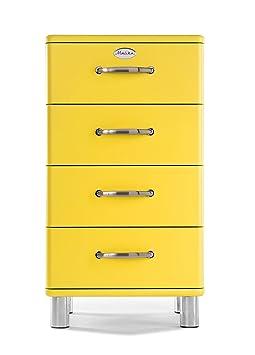 Tenzo 5114-002 Malibu Designer Kommode, 92 x 50 x 41 cm, MDF lackiert, gelb
