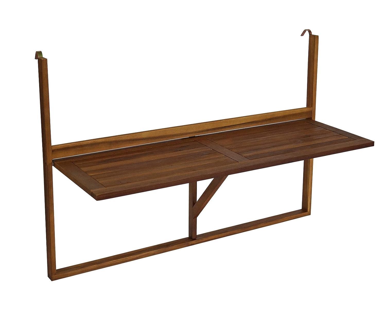 Balkonhängetisch 120x40cm klappbar, grosse Ausführung, Akazienholz jetzt bestellen