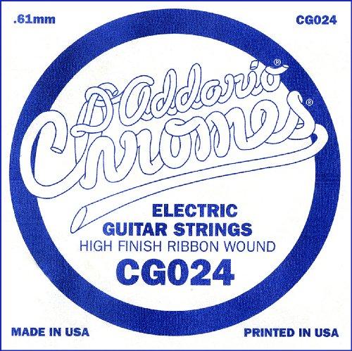 D'Addario Cg024 Flat Wound Electric Guitar Single String, .024