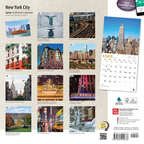 New York City 2015 - New York: Original BrownTrout-Kalender