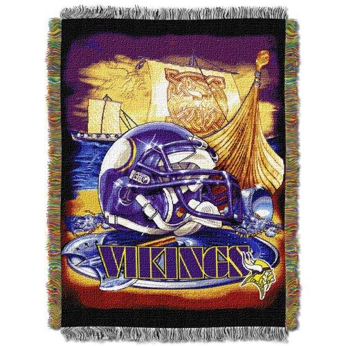 Nfl Minnesota Vikings Acrylic Tapestry Throw Blanket front-731552