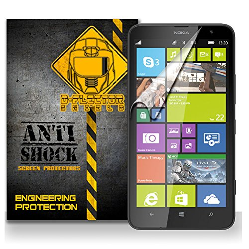 D-Flectorshield Nokia Lumia 1320 Anti-Shock/Military Grade/ Tpu /Premium Screen Protector / Self Healing / Oleophobic Material / Ez Install / Ultra High Definition / Scratch Proof / Bubble Free Install / Precise Laser Cuts front-539989