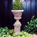Large Garden Planter - Laurel Vase Plant Pot on Plinth