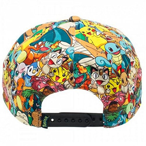 Official-Pokemon-Snapback-Adjustable-Soft-Hat-Collage-Pokemon