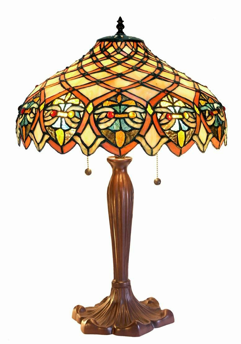 Warehouse of Tiffany's 3046-BB1055 Ariel Tiffany-Style 24-Inch Table Lamp