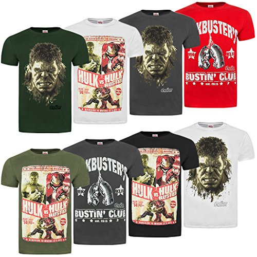 Official Marvel Avengers 2 Age Of Ultron 'Hulk Vs Hulkbuster' T-Shirt