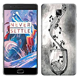 Theskinmantra Music Glass back cover for OnePlus 3/OnePlus Three/1+3