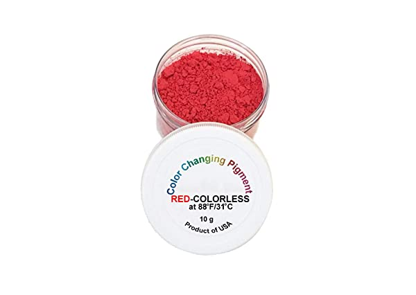 Temperature Activated Color Changing Thermochromic Powder Pigment RED to COLORLESS Changing at 88F/31C (Color: Red-Colorless 88F/31C)