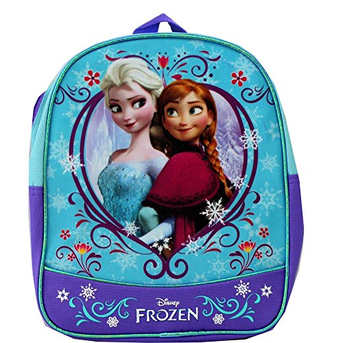 "Disney Frozen 11"" Mini Toddler Pre-school Backpack - Elsa & Anna Sisters - 1"