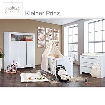 Babyzimmer Felix in weiss 19 tlg. mit 3 turigem Kl + Kleiner Prinz in Beige