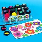Lot de 12 Pots de 18ml de Peinture pour Tissu - Idéal pour la décoration des sacs en tissu