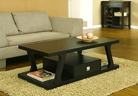 Kalham Modern Coffee Table, Cappuccino