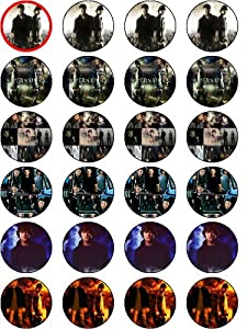 SUPERNATURAL 24 EDIBLE WAFER - RICE PAPER CAKE TOPPERS EACH DESIGN IS 40mm IN DIAMETER