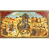"Dolls Of India ""Marriage Procession"" Reprint On Paper - Unframed (101.60 X 50.80 Centimeters)"