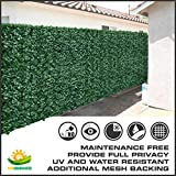 Windscreen4less® 6' x 12' Artificial Faux Ivy Leaf Privacy Fence Screen Decoration Panels Windscreen Patio
