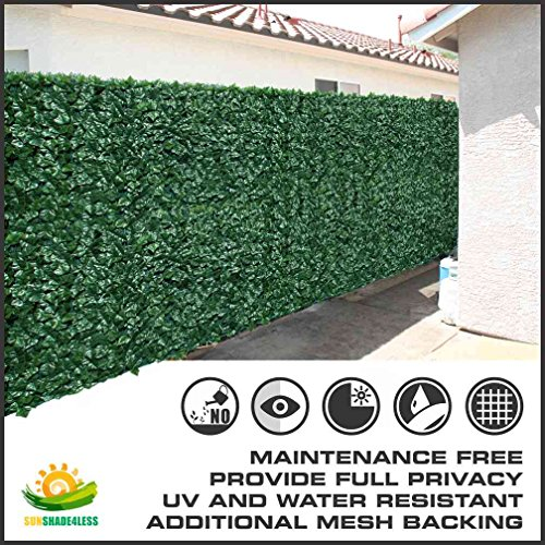 "58.5''tall X 117"" Long Artificial Ivy Leaf Privacy Fence Screen Decoration Panels"