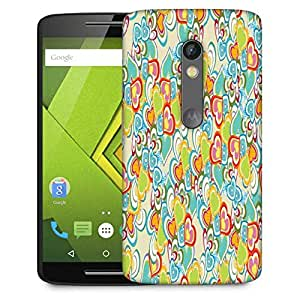Snoogg Abstract Multicolor Hearts Designer Protective Phone Back Case Cover For Moto G 3rd Generation