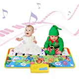 MeetDream Piano Mat, Keyboard Playmat Musical Toys for Toddlers - Multi Function Electronic Dance Mats Piano Pad Animal Musical Preschool Interactive Toy