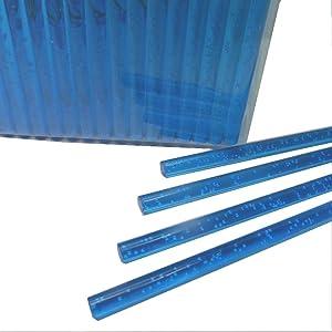 50pcs 4 X 5/32 Blue Bubble Acrylic Lollipop Sticks for Cake Pops Lollipop Candy (Color: Blue Bubble 4, Tamaño: 4)