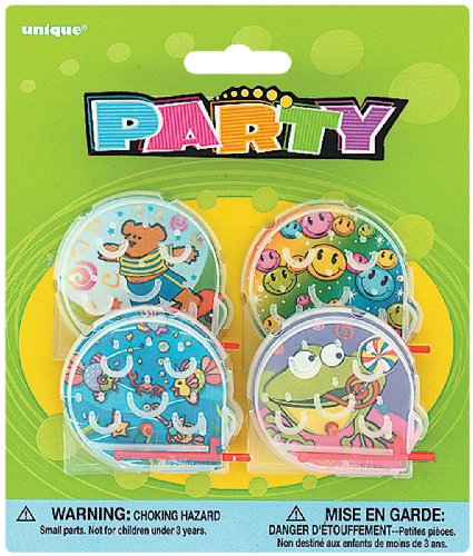 Party Favors 4/Pkg-Bagatelles Games - 1