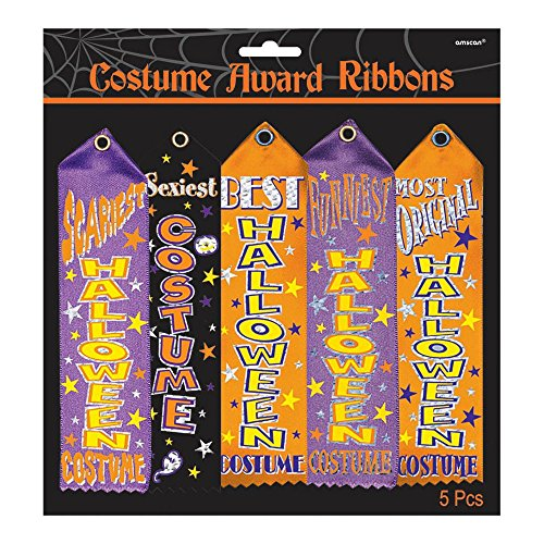 Halloween Costume Contest Award Ribbons - 5 pcs