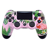 eXtremeRate Tropical Flamingo Patterned Front Housing Shell Faceplate Cover for Playstation 4 PS4 Slim PS4 Pro Controller (Model: CUH-ZCT2 JDM-040 JDM-050 JDM-055) (Color: Tropical Flamingo)
